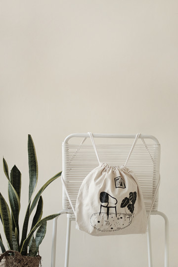 RELAX & MONSTERA DRAWSTRING BAG image