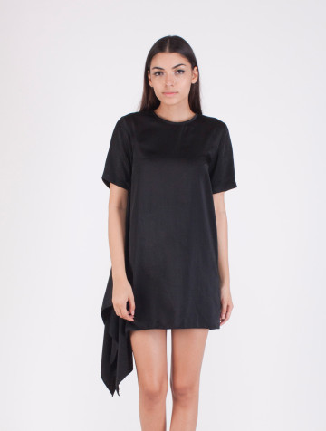 Black Asymetric Cassie Dress