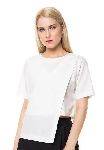 White Morgan Crop Top