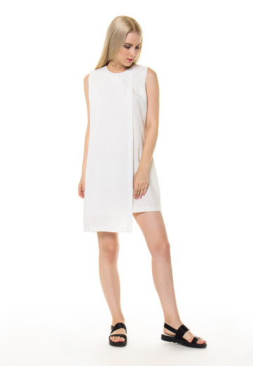 White slip-on Klara Dress