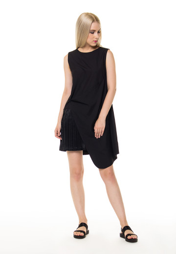 Ellen Pleated insert Wrap Dress