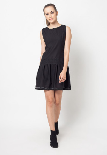 Black Flare Michelle Dress