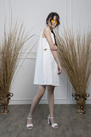 White Peek Dress