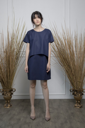 Dark Blue Layer Dress