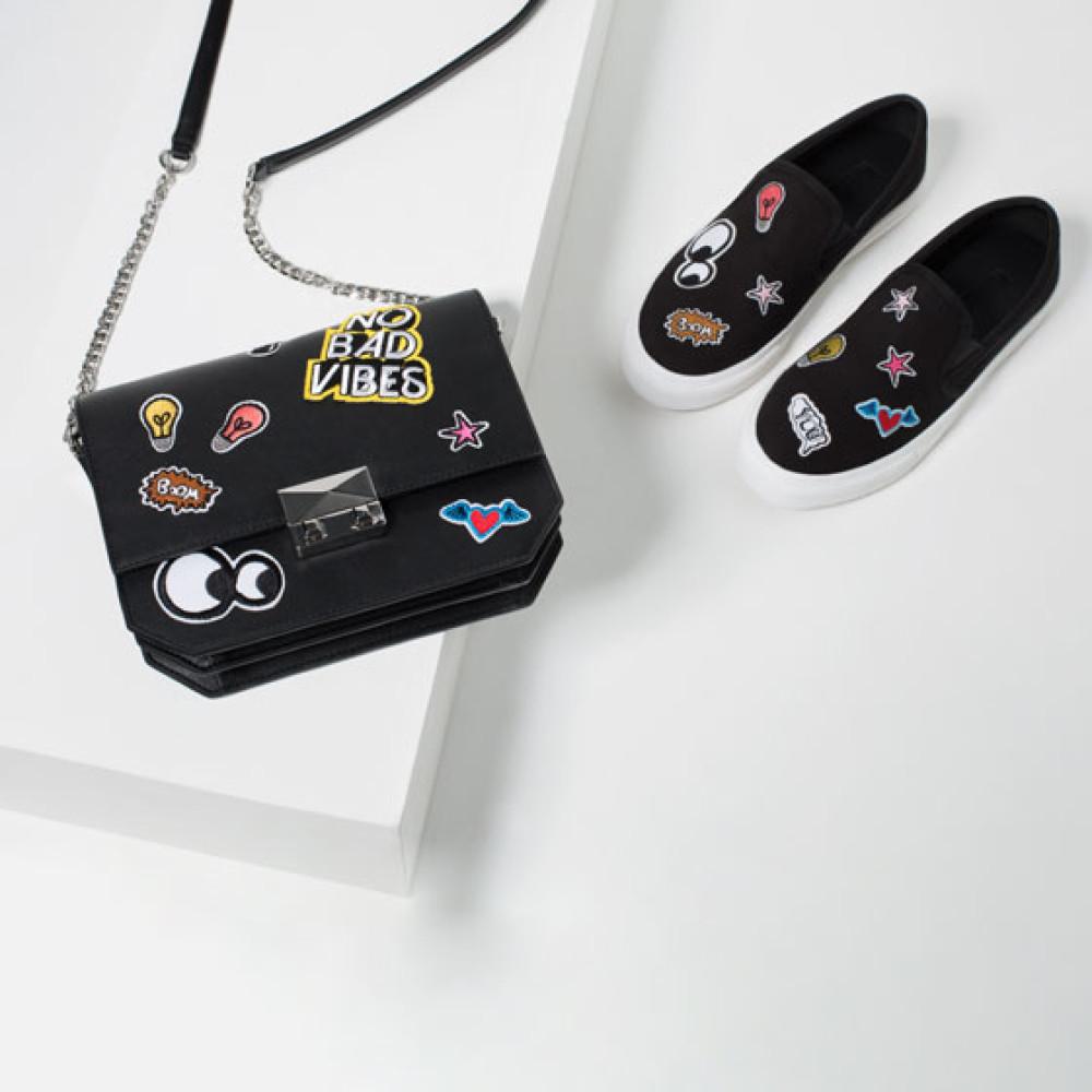 Zara Patch Crossbody Bag