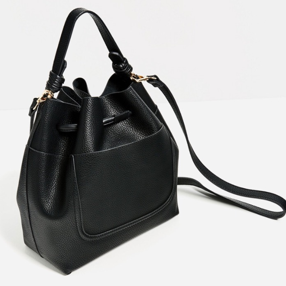 Zara drawstring bucket bag