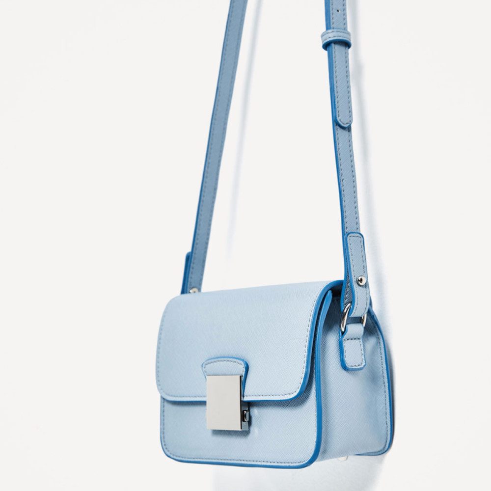 Zara Crossbody Bag With Floral Strap Blue Idr 290000 00 Colour Blue Size 16 X 8 X 13 Cm Available