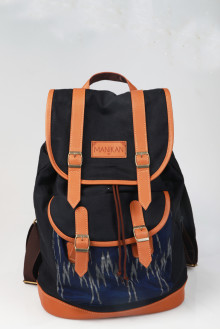 Tribal Rucksack Black Blue