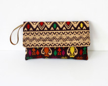 Songket Print Envelope Clutch