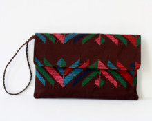 Aztec Print Envelope Clutch
