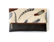 Feather Envelope Clutch