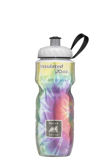 POLAR BOTTLE INSULATED BOTTLE TIE DAY RAINBOW 20 OZ image