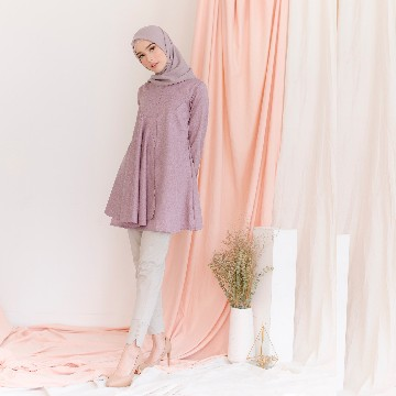 MELORY BLOUSE - TEABERRY