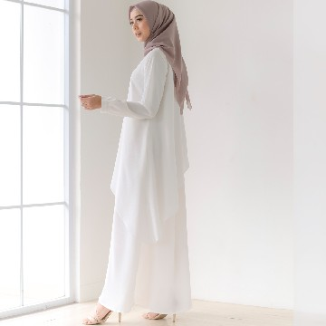 VHO DRESS - BOW WHITE
