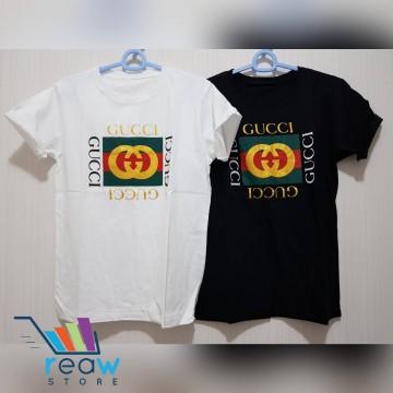 be5c27dd Kaos / Tumblr Tee / T-Shirt Wanita / Cewek Gucci Bendera Gold image