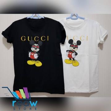 c13af65e Kaos / Tumblr Tee / T-Shirt Wanita / Cewek Gucci Mickey Kacamata image