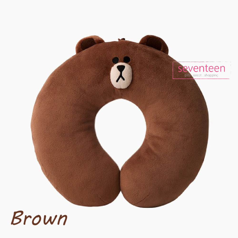 Line Friends Brown Cony Sally Travel Pillow New Edition