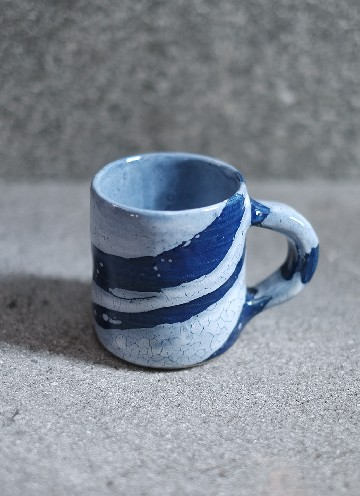RIVER MUG IN BLUE