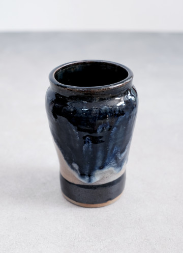 Midnight Blue Melted Vase