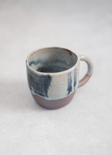 Blue Melted Wood Mug