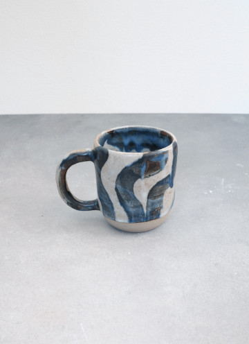 Blue Brushed Matte Mug