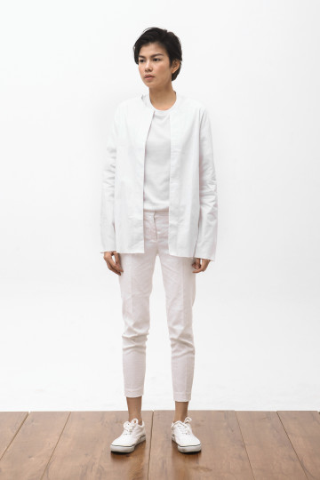 Koto Collarless Jacket in White