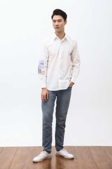 Daika Patches Shirt in White