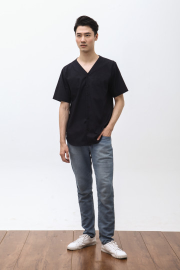 Yama Short Sleeve Shirt in Navy
