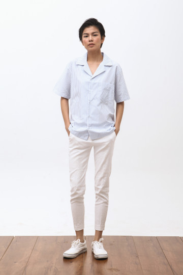 Pyama Shirt in Stripe Blue