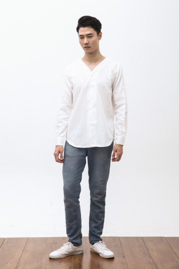 Hira Long Sleeve Shirt in White
