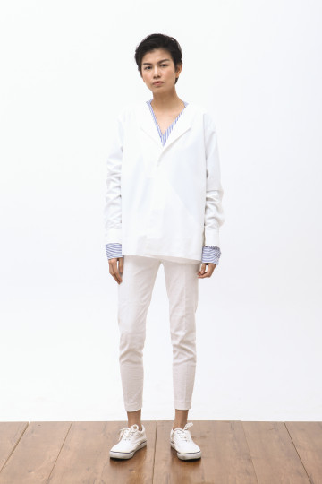 Wasaki Fold Overshirt in White