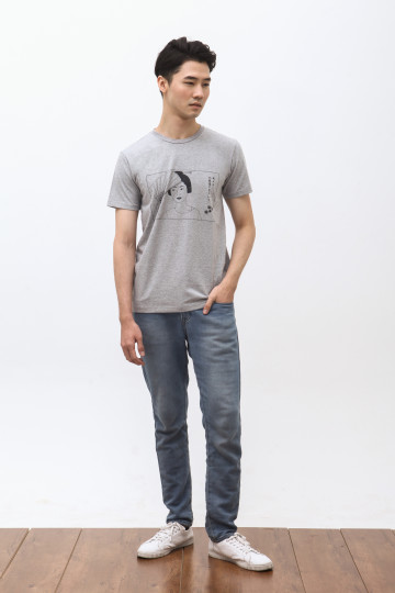 Mamasan Tshirt in Grey