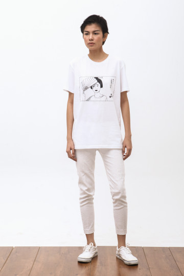 Mamasan Tshirt in White