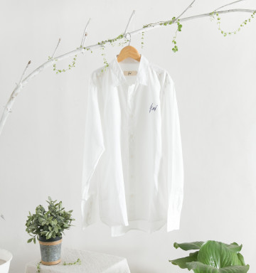 Kai Embroidery Classic Shirt in White