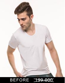 MR.W Low Round Neck Shirt WMS 70001B - Isi 3