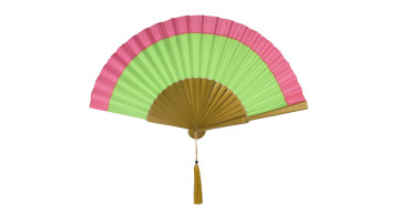 Plain Silk Two Tone Pink Green image