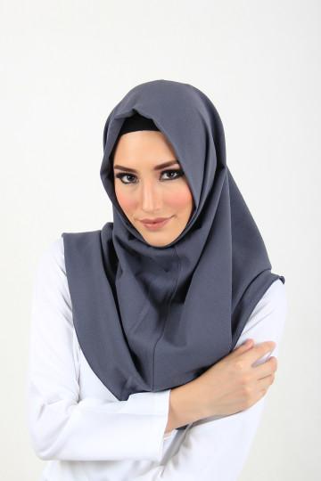 Amal Instant Hijab Dark Grey image