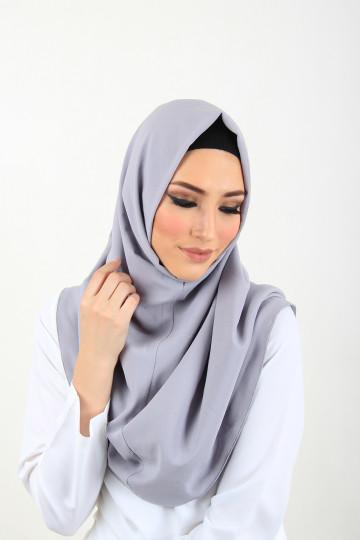 Amal Instant Hijab Light Grey image