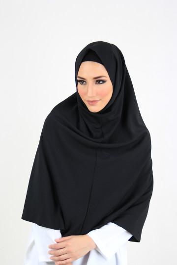 Amal Instant Hijab Black (Long) image