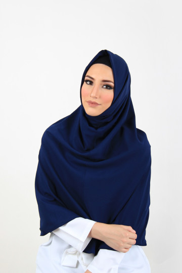Amal Instant Hijab Navy (Long) image