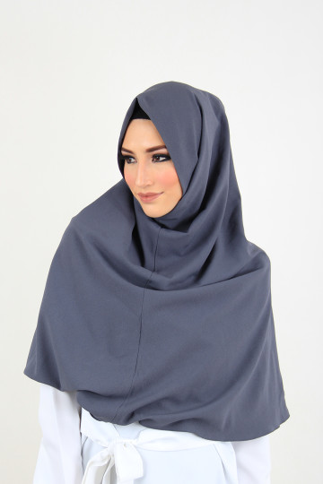 Amal Instant Hijab Dark Grey (Long) image