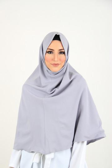 Amal Instant Hijab Light Grey (Long) image