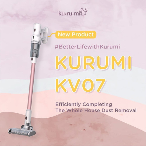 KURUMI KV07 POWERFUL CORDLESS STICK VACUUM CLEANER WITH SPRAY MOP image