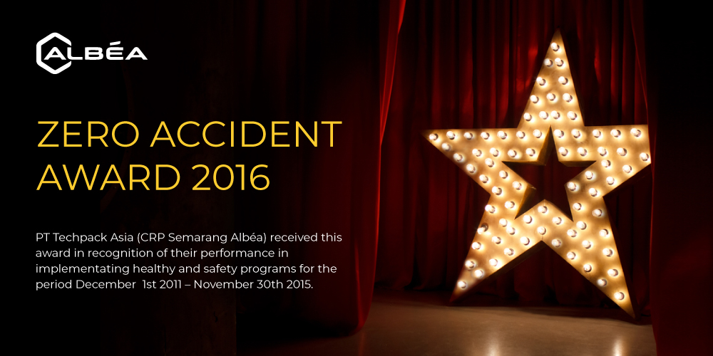 ZERO ACCIDENT AWARD 2016 image