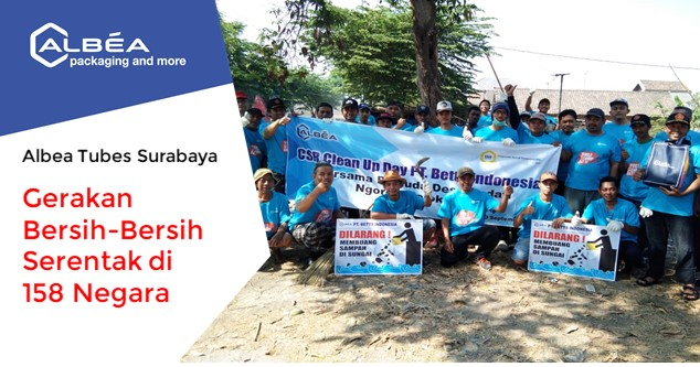 Albea Tubes Surabaya Menyambut World Cleanup Day 2019 image