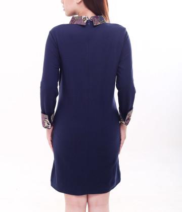 Dakota Long Sleeve Dress Navy