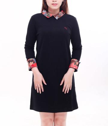 Darren Long Sleeve Dress Black