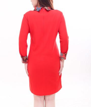 Darren Long Sleeve Dress Red