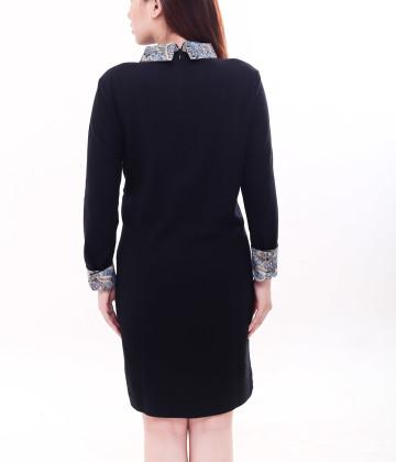 Denzel Long Sleeve Dress Black