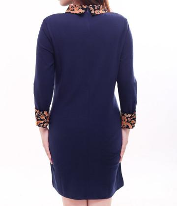 Eden Long Sleeve Dress Navy